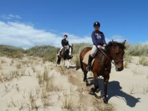 Riding on the Sand Dunes at Tullan Strand