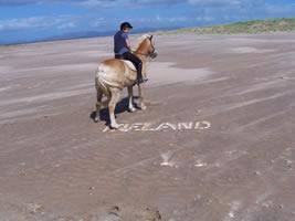 Horse rider on Tullan Strand