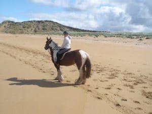 View of Tullan Strand from Horseback