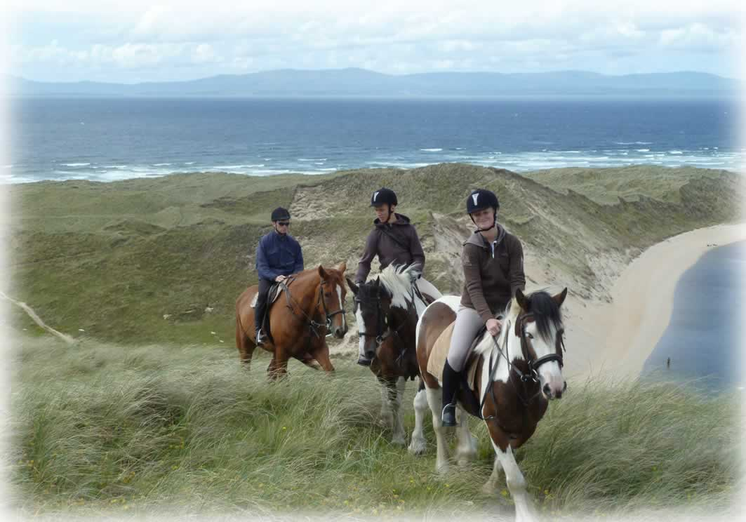 Spectacular views can be seen from the sand dunes