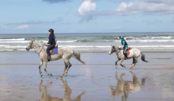 Children cantering on Tullan Strand